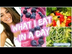 What I Eat in a Day #2 VEGAN | Raw in College - YouTube