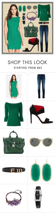 """""""Most Attractive Style"""" by cate-jennifer ❤ liked on Polyvore featuring Adrianna Papell, Diesel, Dondup, Stuart Weitzman, 3.1 Phillip Lim, Victoria Beckham, Yves Saint Laurent, Kendra Scott, Antica Murrina and March LA.B"""