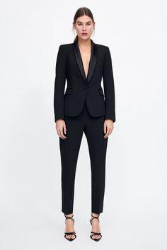 Tuxedo Pants, Tuxedo Suit, Tuxedo Jacket, Suit Jacket, Tweed Blazer, Female Tuxedo Prom, Smoking Noir, Prom Outfits, Black Suits