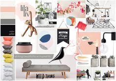 Blog Boss Oct/Nov 2014 e-course, color season mood board by Lilaliv - Spring