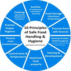10 Principles Of Food Handling And Hygiene, As Practised At Annamrita. Principles of food handling and hygiene are practised at Annamrita to ensure that food does not adversely affect human health. Interrelated elements like programs, plans, policies, procedures, practices, processes, goals, objectives, methods, controls, roles, responsibilities, relationships, documents, records, and resources are aligned around these principles.