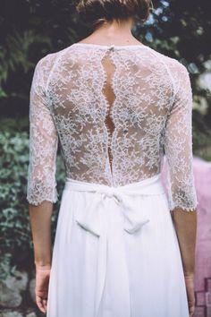mariage bohème, robe de mariée, dentelle de calais, créateurs, Lorafolk