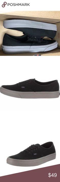 Vans Authentic Pop Black Frost Grey Shoes Vans Authentic Pop Black Frost  Grey Shoes Size Men Women 9 Brand new in box🌹 Vans Shoes Athletic Shoes b1a9b07bd