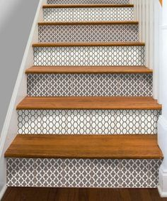 Photo: Courtesy Etsy/SnazzyDecals | thisoldhouse.com | from Dress Up Stair Risers With Vinyl Decals