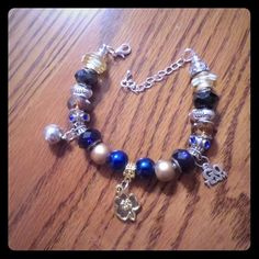 Notre Dame Fighting Irish Inspired Charm Bracelet Notre Dame Fighting Irish Inspired European Charm Bracelet NCAA March Madness.  No trades, please use offer button Jewelry Bracelets
