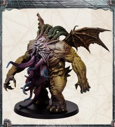 CMON is raising funds for Cthulhu: Death May Die on Kickstarter! Face the monsters and embrace your insanity so you may disrupt the ritual long enough to kill them! Cthulhu, Eldritch Horror, Dungeons And Dragons Homebrew, Action, Monster Design, Fantasy Miniatures, Mini Paintings, Story Inspiration, Lion Sculpture