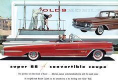 Plan59 :: Classic Car Art :: 1959 Oldsmobile Super 88 Convertible