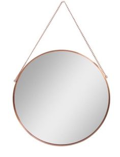 Modern Vintage Nautical LARGE Round Copper Metal Chain Hanging Wall Mirror NEW in Home, Furniture & DIY, Home Decor, Mirrors | eBay!