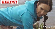 Jos istut koko päivän töissä, tämä on sinun liikkeesi. Juontaja ja jumppaohjaaja Mari Sainio näyttää mallia. Health Fitness, Wellness, Exercise, Athletic, Workout, Simple, Therapy, Ejercicio, Athlete
