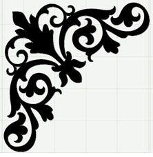 Wood Craft Patterns, Stencil Patterns, Stencil Painting, Stencil Designs, Pattern Art, Stenciling, Motif Arabesque, Molduras Vintage, Jugendstil Design