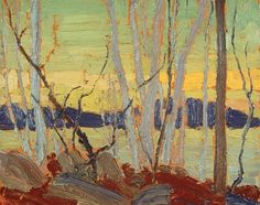 Lake in Autumn, Tom Thomson (Group of Seven) Group Of Seven Artists, Group Of Seven Paintings, Emily Carr, Canadian Painters, Canadian Artists, Abstract Landscape, Landscape Paintings, Tom Thomson Paintings, Catalogue Raisonne
