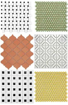Girls bath- Unique tile by Merola... retro styles, exotic or a little bit of funky fun...