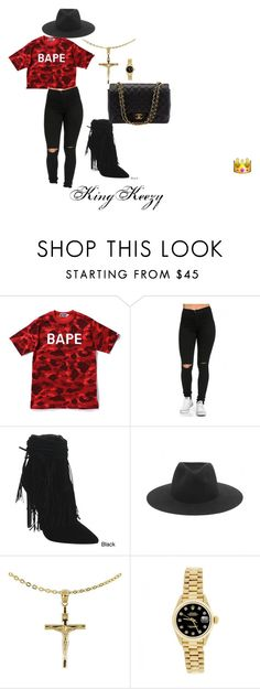 Some Trill S*it by arkiamiller on Polyvore featuring A BATHING APE, Beston, Chanel, Rolex, rag & bone, women's clothing, women's fashion, women, female and woman