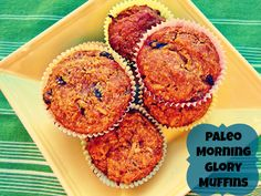Paleo_Morning_Glory_Muffins_  sweet potato, coconut, raisins, walnuts, honey, carrot, eggs, almond flour, cinnamon, vanilla, baking powder   Got all but the raisins and walnuts, so will do it anyway!