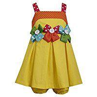 Bonnie Jean Baby Girls' 2 Piece Polka Dot Bow Dress