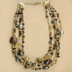 Glass Necklace Brown