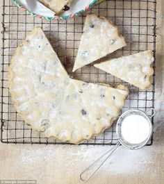 Mary Berry's Cranberry and White Chocolate Shortbread | recipe via Daily Mail