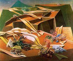 Garden Airplane Trap (Jardin gobe avions), Max Ernst, 1935-1936
