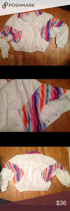 🌈Awesome 90's Windbreaker🌈 In perfect condition!!! Made by Olivia Valere. Size  L- will fit M. Body: 100% polyester lining: 65% polyester, 35% cotton. Machine wash cold/ tumble dry low. Tagged UO for views only!! Urban Outfitters Jackets & Coats