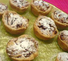 Μηλοπιτάκια νηστίσιμα στο πιάτο 8 Bagel, Baked Potato, Sweet Recipes, Deserts, Muffin, Bread, Cooking, Breakfast, Ethnic Recipes