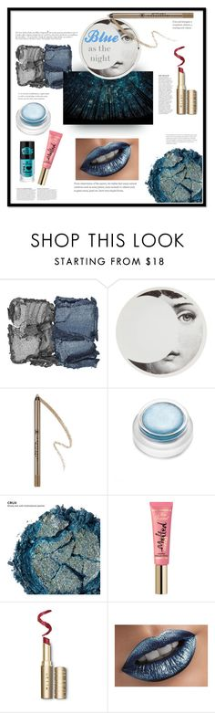 """Blue as the night"" by barbara-lancianese ❤ liked on Polyvore featuring beauty, NARS Cosmetics, Fornasetti, Anastasia Beverly Hills, rms beauty, Urban Decay and Anja"