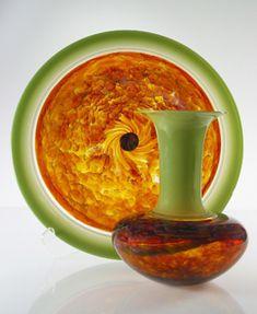 Green Safari Platter & Vase