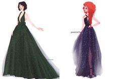 Princesas Disney com vestidos de estilistas famosos | Just Lia