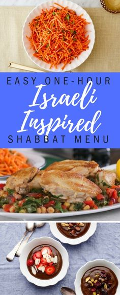 1 Hour Shabbat Menu Israeli Style Iam about to blow your minds. You CAN make your Shabbos dinner in only an hour. AN HOUR! Kosher Recipes, Cooking Recipes, Kosher Food, Cooking Stuff, Cooking 101, Kosher Dinners, Comida Judaica, Holiday Recipes, Dinner Recipes