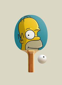 Ping Pong by product designer and graphic designer Дмитрий Куляев (Dmitry Kulyev), Russia. https://www.behance.net/Kulyev #Homer #TheSimpsons