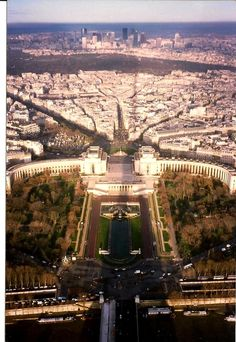 Paris in the morning from the Eiffel tower.