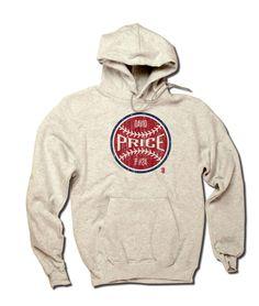 David Price MLBPA Officially Licensed Boston Hoodie S-3XL David Price Ball R