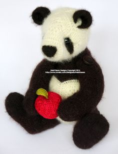 Ravelry: Ling-Ling the Panda African Flower Crochet Pattern pattern by Heidi Bears
