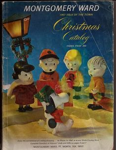 1967 Montgomery Ward Christmas Catalog Peanuts Snoopy Cover