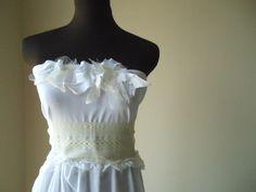 Shabby Chic Wedding Dresses | Wispy Short Wedding Dress Shabby Chic Boho Beach Garden Woodland ...