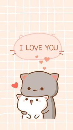 Wall Paper Cute Animals Kawaii 25 Ideas For 2019 Cute Cartoon Images, Cute Love Cartoons, Cute Cartoon Wallpapers, Cute Bear Drawings, Cute Kawaii Drawings, Cute Cat Drawing, Chibi Cat, Cute Chibi, Cute Cat Wallpaper