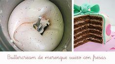 Buttercream de merengue suizo para rellenar tartas.