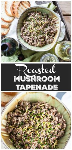 This Roasted Mushroom Tapenade Appetizer is the perfect simple and elegant r. This Roasted Mushroom Tapenade Appetizer is the perfect simple and elegant recipe for your summ Roasted Mushrooms, Stuffed Mushrooms, Roasted Garlic, Keto Mushrooms, Tapenade, Clean Eating Recipes, Clean Eating Snacks, Ma Baker, Sweets