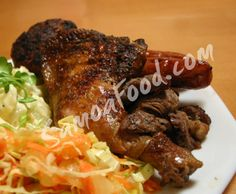 (Samoa) Samoan-style BBQ Marinades w/ side dishes of creamy potato salad and tangy coleslaw
