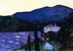 Wassily Kandinsky. Mountain Landscape with Lake, 1902
