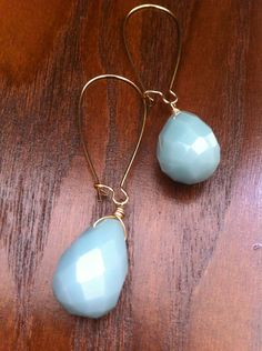 baby blue drop earrings Blue Drop Earrings, Pearl Earrings, Baby Blue, Pendant Necklace, Pearls, Jewelry, Pearl Studs, Jewlery, Jewerly