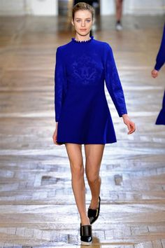 Cobalt blue! Stella McCartney Fall 2012 | Paris Fashion Week