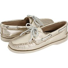 Must have Gold Metallic Sperry Top Sider Boat Shoe