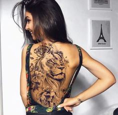 Best Tattoos On The Back That Will Make You Look Stunning; Back Tattoos; Tattoos On The Back; Back tattoos of a woman; Little prince tattoos; 4 Tattoo, Leo Tattoos, Body Art Tattoos, Tatoos, Small Tattoo, Tattoo Wolf, Wrist Tattoos, Flower Tattoos, Lion Tattoo With Flowers