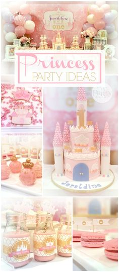 You have to see this lovely pink princess party! See more party ideas at CatchMyParty.com!