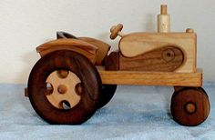Handcrafted Wooden Tractor. $35.00, via Etsy.