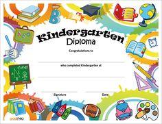 free printable preschool diploma graduation pinterest free