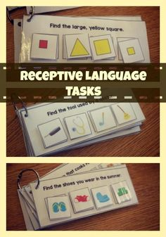 Receptive Language Tasks Interactive Receptive Language Tasks for all levels of learners! found at Interactive Receptive Language Tasks for all levels of learners! Autism Activities, Speech Therapy Activities, Preschool Language Activities, Aba Therapy For Autism, Cognitive Activities, Life Skills Activities, Shape Activities, Listening Activities, Classroom Activities
