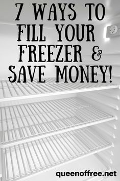 Are you using your freezer to save money in these seven ways? Great tips for what you can freeze and how long it will last! save money in college, fast ways to save money