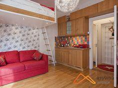 Mẫu thiết kế nội thất chung cư mini với gác xép thông minh