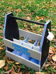 Carolina Panthers beer caddy Wooden Cooler, Diy Cooler, Beer Caddy, Carolina Panthers, Building Ideas, Small Towns, Etsy Seller, Create